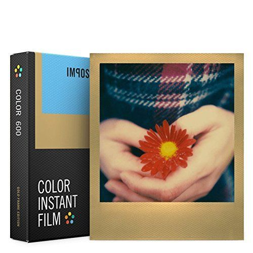 Polaroid 600 Sofortbilder - 8 -er Pack goldener Rand